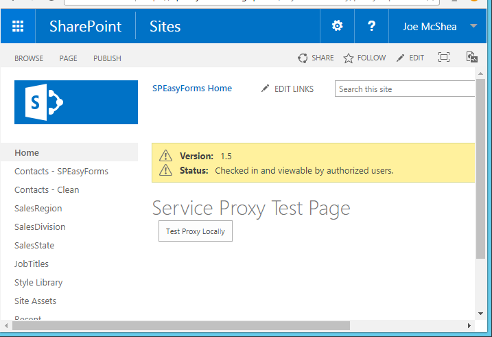 CORS Service Proxy Test Page