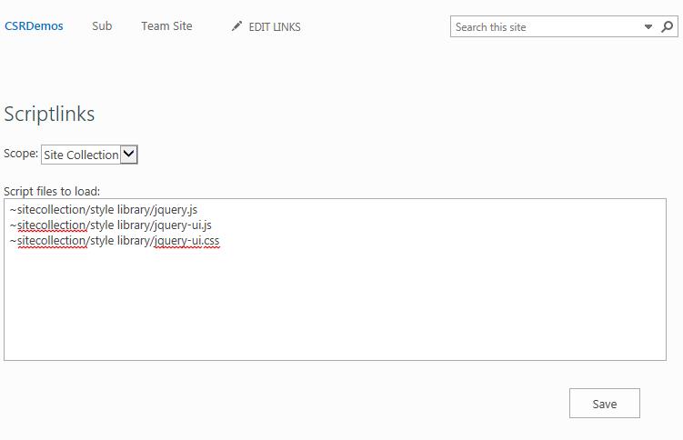 Set ScriptLink Utility Page