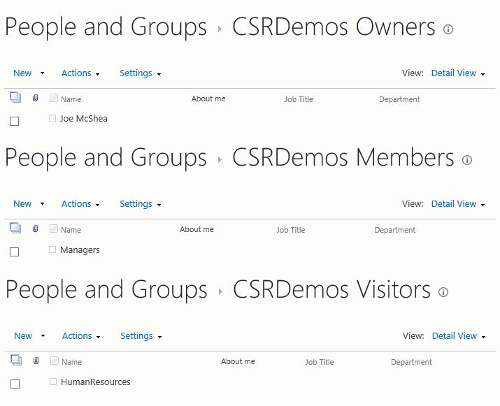 Site Group Membership